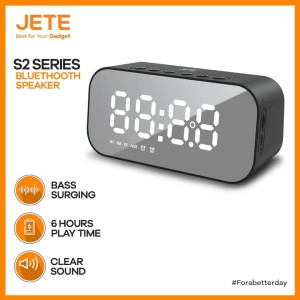 Harga speaker jete s2 bluetooth v5 0 stereo sound with alarm | HARGALOKA.COM
