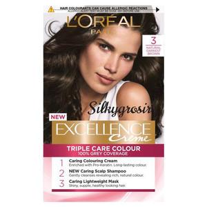 Harga l oreal paris excellence hair coloring   pewarna rambut   3 dark | HARGALOKA.COM