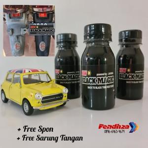 Harga black magic 80ml penghitam trim body motor mobil dashboard bumper | HARGALOKA.COM