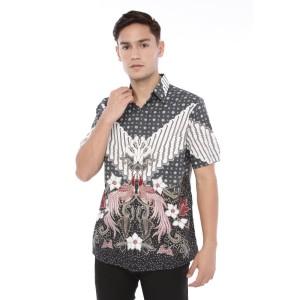 Harga agrapana baju kemeja hem batik pria premium lengan pendek modern labda     HARGALOKA.COM