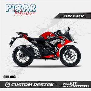 Harga sticker decal motor honda cb 150r red tiger full body premium   HARGALOKA.COM
