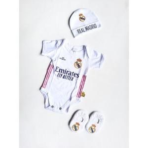 Harga set 3 in 1 jumper bayi bola real madrid baju kaos anak | HARGALOKA.COM