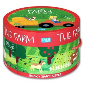 Harga the farm round box set includes board book giant puzzle | HARGALOKA.COM