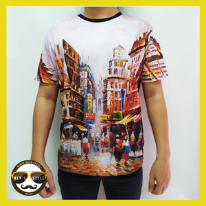 Harga baju kaos pria distro bangkok printing import thailand china 01     HARGALOKA.COM
