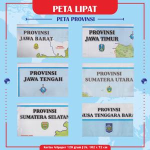 Harga peta lipat provinsi 1 pustaka baru press   jawa   HARGALOKA.COM