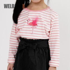 Harga welborn kids pink flamingo long sleeve tee kaos oblong lengan panjang   | HARGALOKA.COM