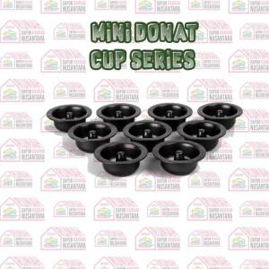 Harga cetakan kue mini donut cup series 6cm set 9 pcs anti | HARGALOKA.COM