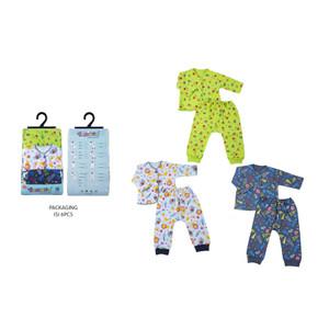 Harga 1set isi 6pcs setelan baju panjang bayi yenora kaos oblong 0 3 3 6   0 3 | HARGALOKA.COM