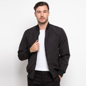 Harga jaket bomber pria smith berlin origin series black   | HARGALOKA.COM