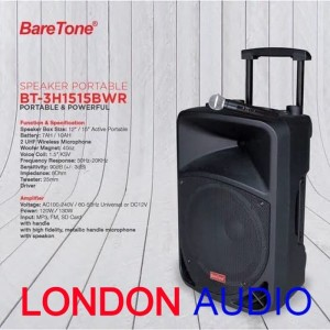 Harga speaker portable 15 inch 2 mic wireless uhf baretone | HARGALOKA.COM
