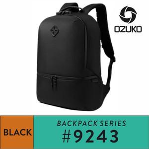 Harga ozuko backpack 9243   black   | HARGALOKA.COM