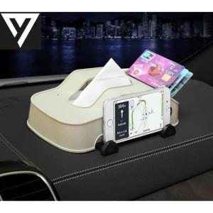 Harga 34 kotak tisu dash board mobil 3 in 1 tissue holder hp dan kartu dll | HARGALOKA.COM