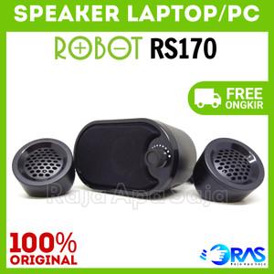 Harga speaker robot rs160 spiker audio computer komputer pc laptop portable   hitam | HARGALOKA.COM