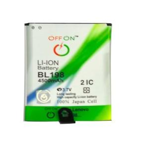 Harga baterai offon double power lenovo bl 198 bl198 a859 s880 lr988 | HARGALOKA.COM