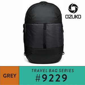 Harga ozuko backpack 9229s   grey   | HARGALOKA.COM