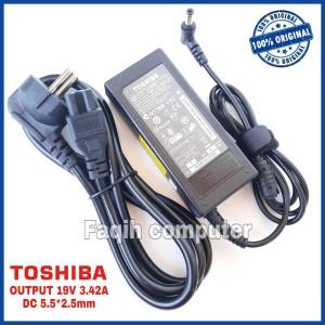Harga adaptor charger original toshiba satellite c640 c645 l745 l740 | HARGALOKA.COM