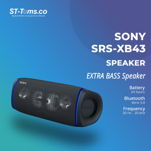 Harga sony srs xb43 srs xb43 extra bass portable bluetooth speaker   | HARGALOKA.COM