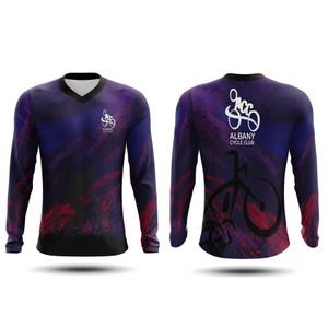 Harga jersey sepeda lengan panjang pria dan wanita model v neck js017   | HARGALOKA.COM