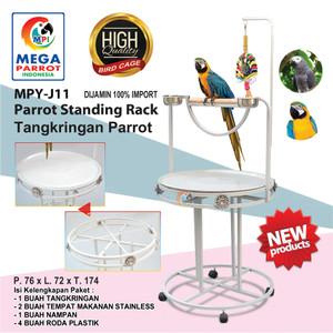 Harga tangkringan parrot standing rack mpy j11 kandang sangkar | HARGALOKA.COM