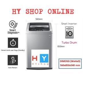 Harga mesin cuci lg top loading 8 5kg t2185vspck smart inverter turbo | HARGALOKA.COM