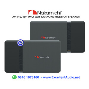 Harga nakamichi av110 10inch pasif speaker karaoke vokal | HARGALOKA.COM