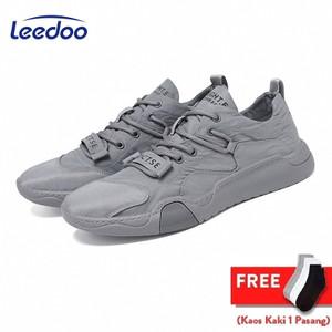 Harga leedoo sepatu pria sneaker running spatu casual young lifestyle mc101   abu abu   HARGALOKA.COM
