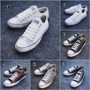 Harga convers allstars sepatu sneakers kets pria sekolah kerja murah   4 abu | HARGALOKA.COM