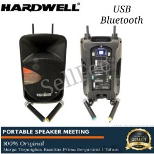 Harga speaker portable meering hardwell 15 inc with usb and | HARGALOKA.COM
