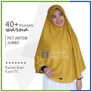 Harga jilbab instan pet antem jumbo hijab kaos bergo anthem size | HARGALOKA.COM