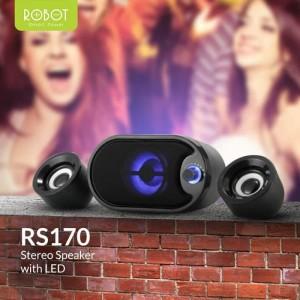 Harga robot speaker rs170 original audio portable led audio stereo 5v | HARGALOKA.COM
