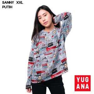 Harga baju kaos atasan wanita lengan panjang kartun retro size l xxl | HARGALOKA.COM