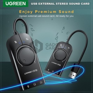 Harga ugreen 40964 usb soundcard eksternal sound card external audio | HARGALOKA.COM