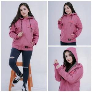 Harga jaket parka wanita semi parka blazer waterproof original rebel id   blazer pink | HARGALOKA.COM
