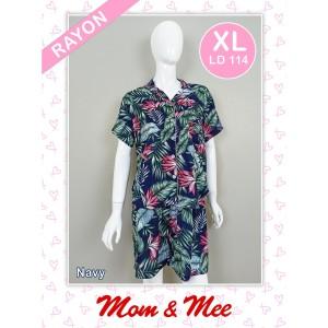 Harga piyama baju tidur rayon wanita daun 4 pdk pdk   hijau   HARGALOKA.COM