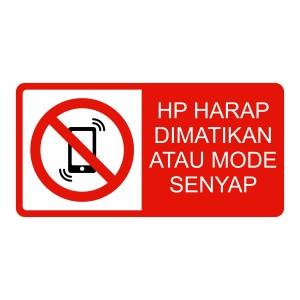 Harga rambu hp harap di matikan atau mode senyap   HARGALOKA.COM