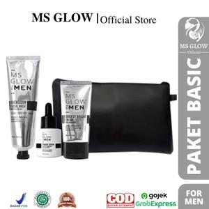 Harga msglow for men paket wajah untuk pria pencerah hilang jerawat   paket | HARGALOKA.COM