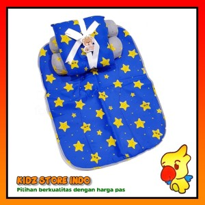 Harga baby mat alas matras tidur bayi dan bantal motif laki laki   HARGALOKA.COM