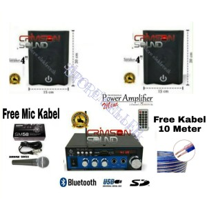Harga paket speaker 4 inch mini karaoke hp android amplifier bluetooth | HARGALOKA.COM