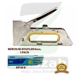 Harga staples tembak banner staple gun tacker bonus isi | HARGALOKA.COM