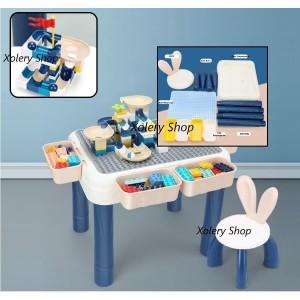 Harga meja lego block premium tinggi meja 42 cm 80pcs lego | HARGALOKA.COM