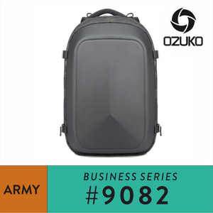 Harga ozuko backpack 9082   grey   | HARGALOKA.COM