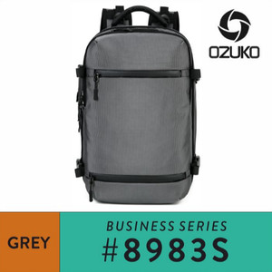 Harga ozuko travel backpack 8983s   grey   | HARGALOKA.COM