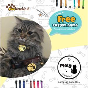 Harga k06   kalung custom nama kucing anjingfree lonceng aksessoris | HARGALOKA.COM