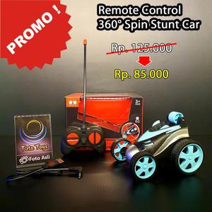Harga 360 degree spins stunt car mobil remote control rc usb charging   biru | HARGALOKA.COM