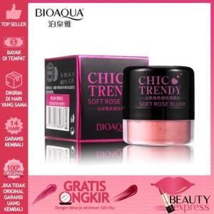 Harga bioaqua chic trendy soft rose blush on powder 4gr   perona pipi   1 pc   light | HARGALOKA.COM