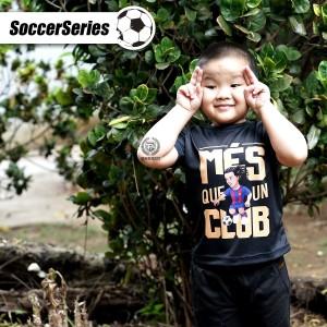Harga kaos anak bola jersey ronaldinho barcelona barca t shirt baju dry fit   6 | HARGALOKA.COM