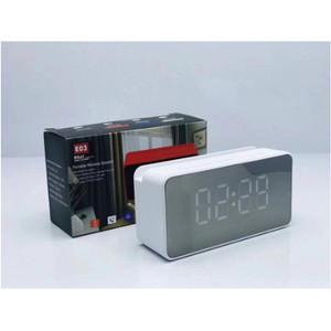 Harga speaker jam led e03 bluetooth time clock alarm fm radio usb aux extra   | HARGALOKA.COM