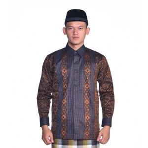 Harga baju batik bhs signature hitam oranye     HARGALOKA.COM