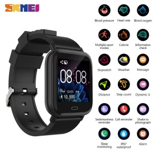 Harga skmei smartwatch jam tangan heartrate blood pressure monitor   HARGALOKA.COM