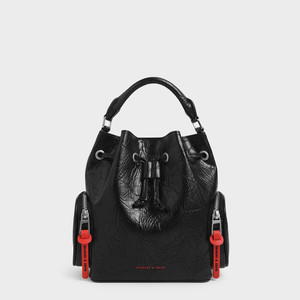 Harga tas ck cnk 1026 wrinkled bucket bag ori charles and keith tas ck murah   | HARGALOKA.COM